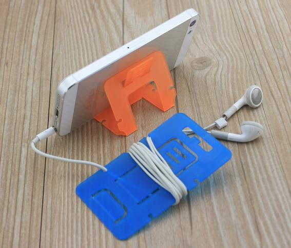 Hi-quality Plastic Portable Foldable Card Phone Mounts Cell Phone Tablet Stand Holder For Fhone Table PC / Bobbin Winder