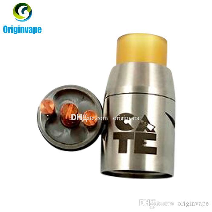 Cate Doge RDA Atomizador Catemizer RDA 22 MM Rebuildable Dripping Atomizador Novo Controle de Fluxo De Ar PEI Largo Gotejamento Dica DHL Frete Grátis