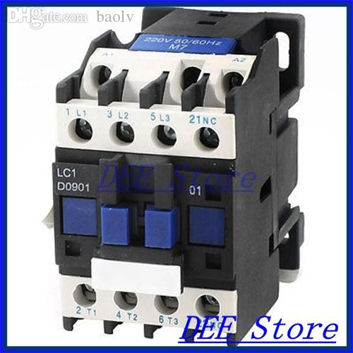 Wholesale-LC1-D0901 220V 20A General Purpose Household AC Coil Power  Contactor