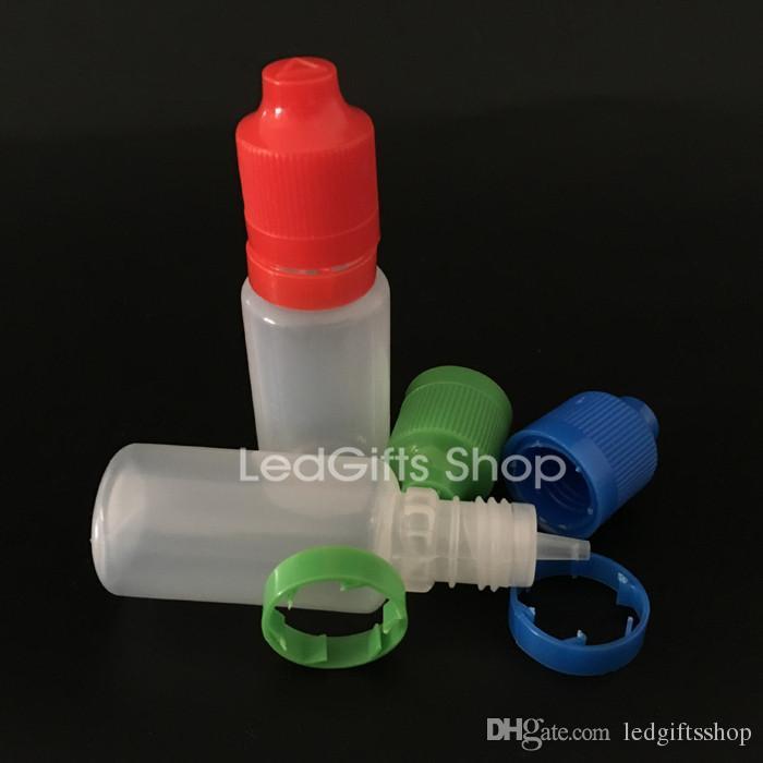 Schnelle Lieferung E Flüssigkeit Flasche 15ml Plastiktropfflasche mit Kindergesicherte Tamper Proof Cap Lang Tip E-Cig Ölflasche