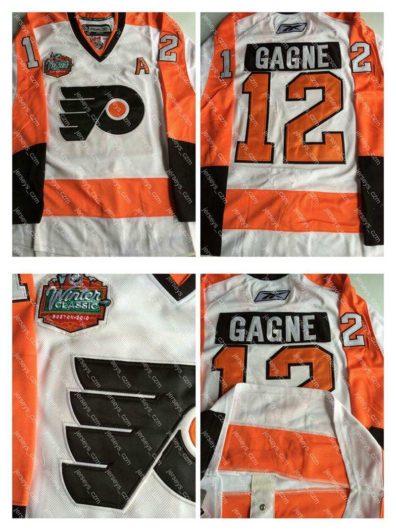 ... Youth NHL Jersey 2017 Mens 12 Simon Gagne 2010 Winter Classic A Patch  Stitched Logos White Orange Philadelphia Flyers ... 8d8ee1339