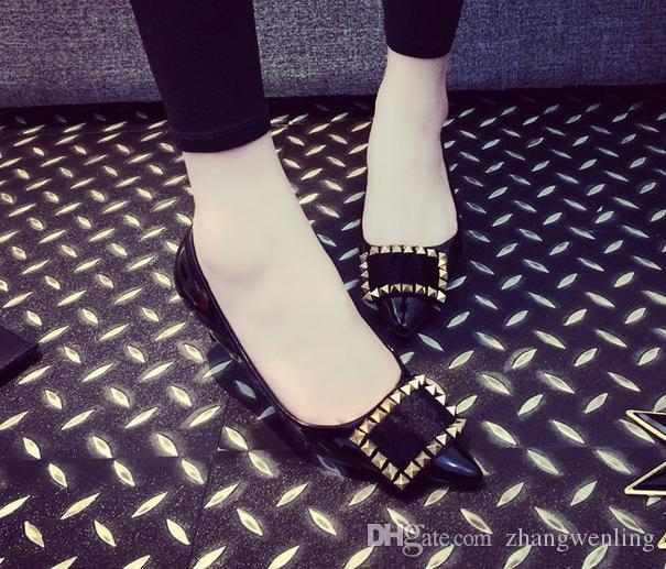 35-41 Düz ayakkabılar sahte süet bayanlar bale ayakkabıları rahat anne ayakkabı kadın PU daireler akın flats kadınlar yüksek kalite büyük