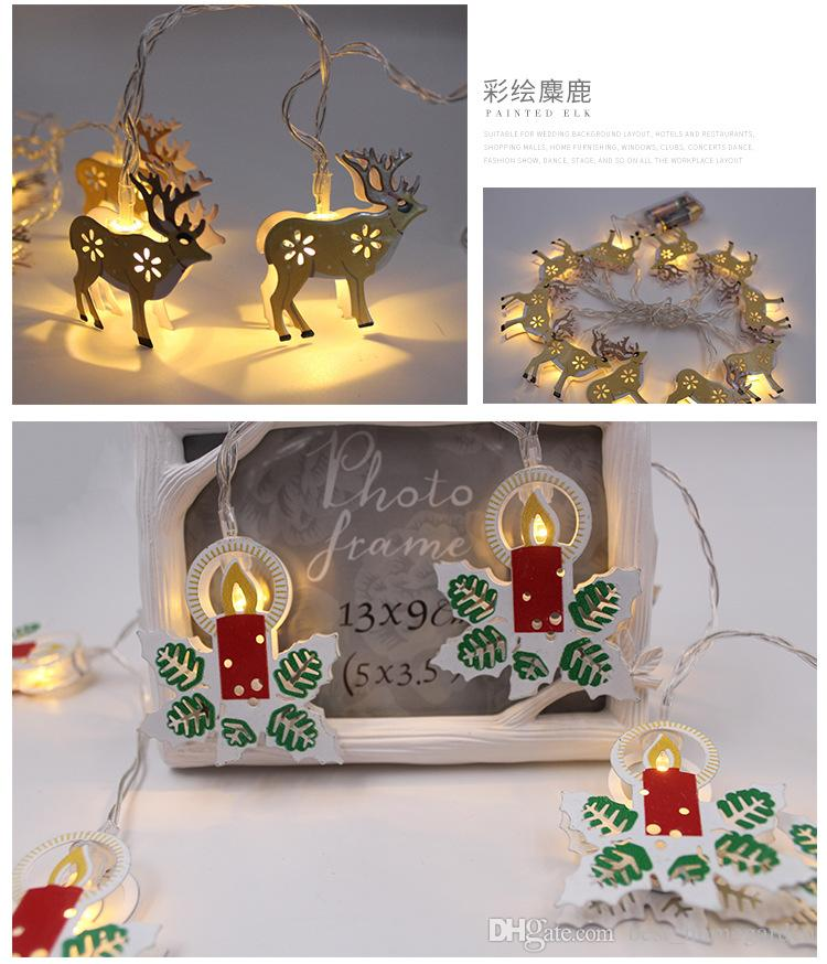 Hot 1.8m 10 LEDS AA Battery Operated Led String Mini LED Copper Wire String Fairy Light Christmas Xmas Home Party Decoration Multicolor
