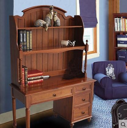 Großhandel Massivholz Bücherregal Schreibtisch Kombination