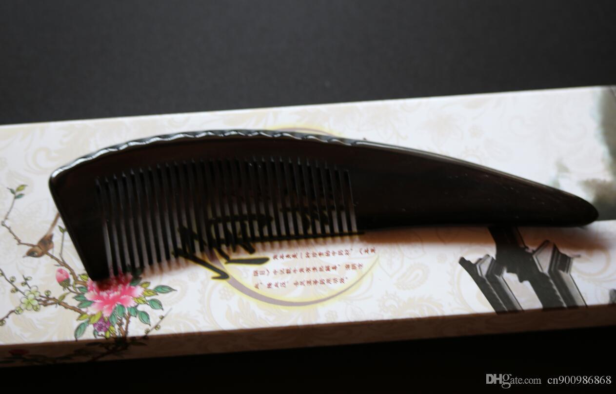 peine de pelo de búfalo natural de alta calidad / cepillos para el cabello / +