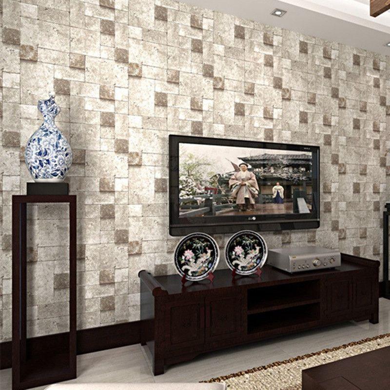 New Arrival 3d Brick Pattern Design Wallpaper Roll Wallpaper Home