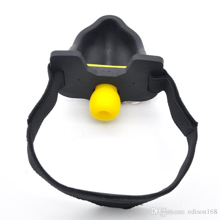 2017 силиконовые моча писсуар рот кляп глава жгут ремень бондаж с 4шт кляп мяч раб БДСМ секс игрушки для взрослых мужчин эротические игры A331