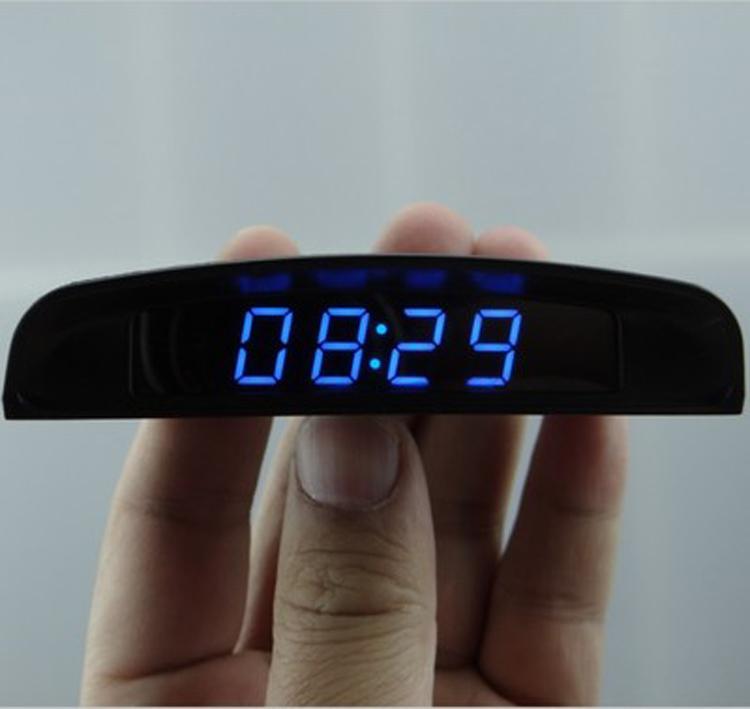 12V digital clock for car LED digital car clock automobile electronic clock  car thermometer and voltmeter relogio digital