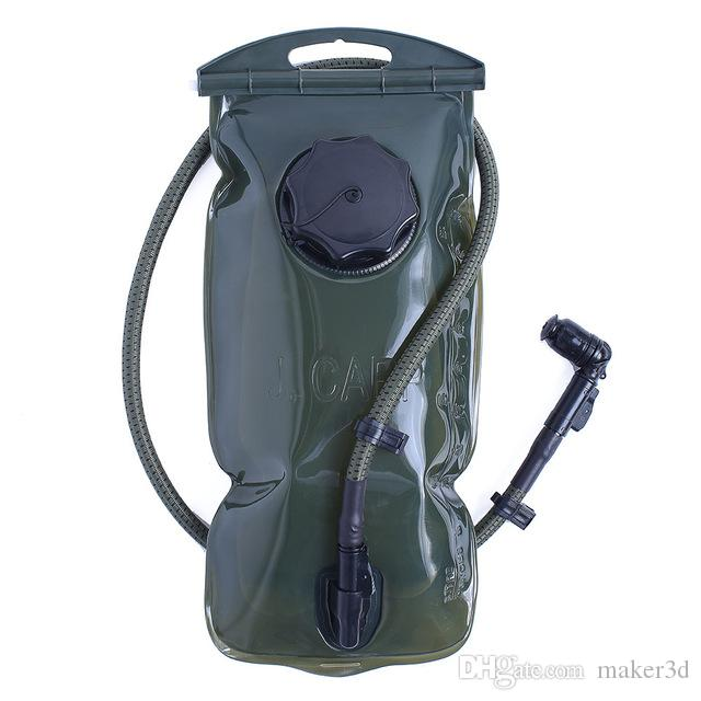 KyleBooker 2L Water Bladder Bag Zaino Sistema di idratazione Pack Campeggio Escursionismo Pesca Outdoor Molle Tactical Hydration Water Bag