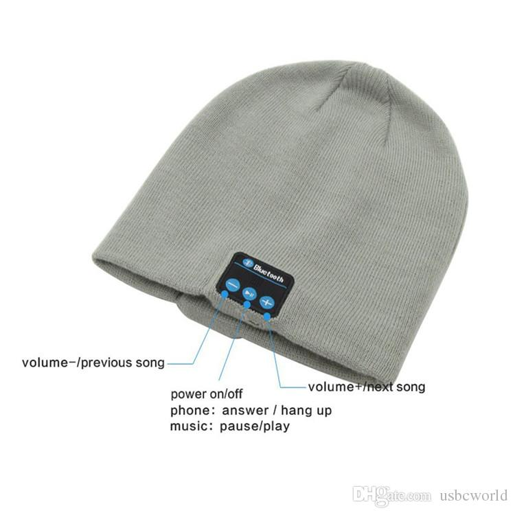 Bluetooth-Hut-Winter-Kappen-drahtloser Bluetooth Kopfhörer-Kopfhörer-Kopfhörer weich warm mit Stereolautsprecher freihändig Wiege