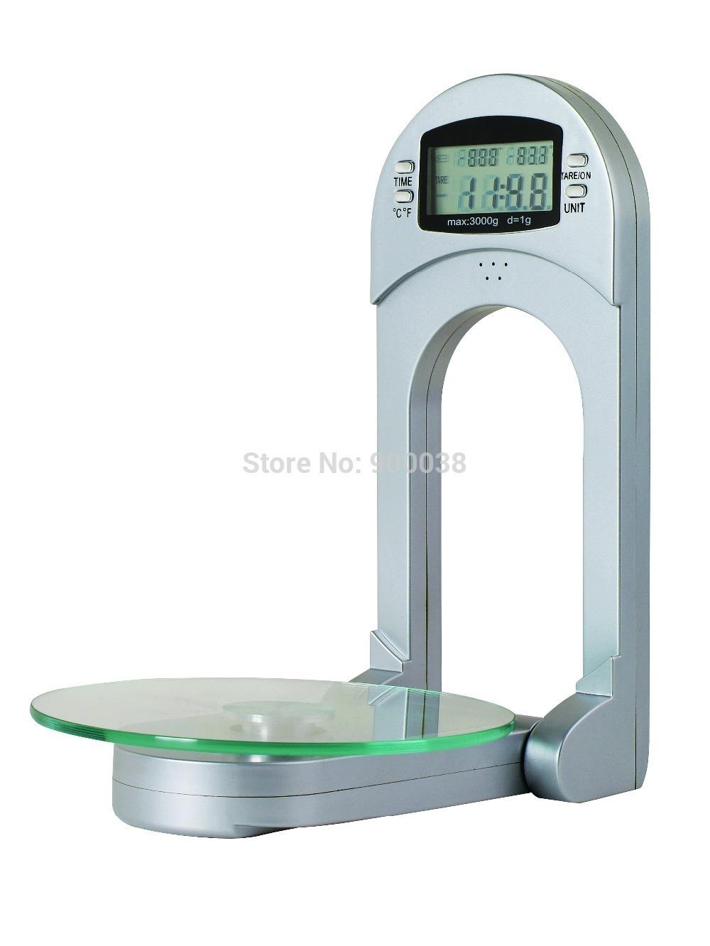 Wall Mount Kitchen Scale Digital Lcd Display 3 Kgs Max. Timer And ...
