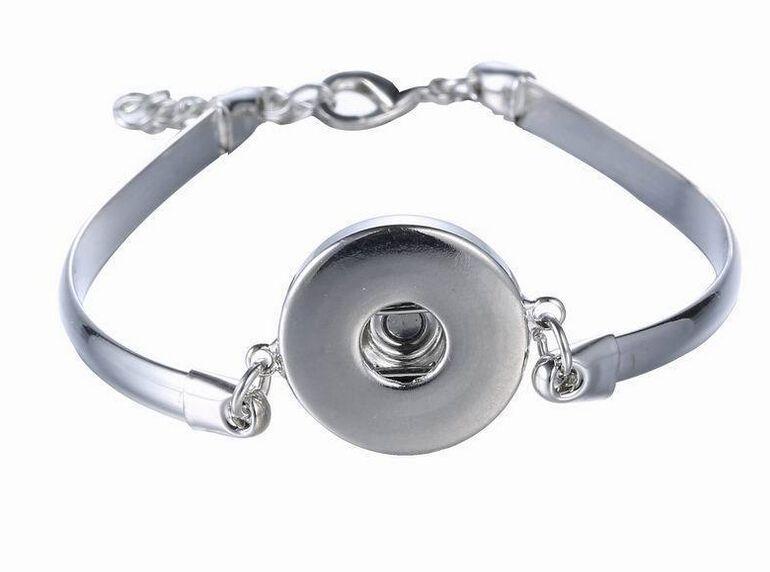 Noosa Metal Snap Button Charm Bracelet Bangle ...