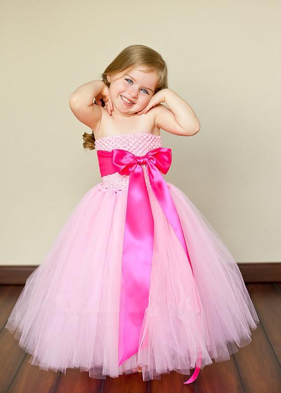 Vestido hecho a mano vestido de la muchacha 2018 nuevo envío libre para 2-11 años arco floral niñas princesa fiesta boda arco niños vestido formal
