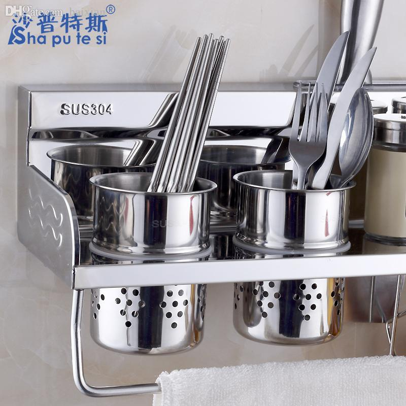 Online Cheap Wholesale Kitchen Article Holding Rack Holder Spice Rack  Kitchenware Rack 304 Stainless Steel Kitchen Utensils Racks By Zhexie |  Dhgate.Com