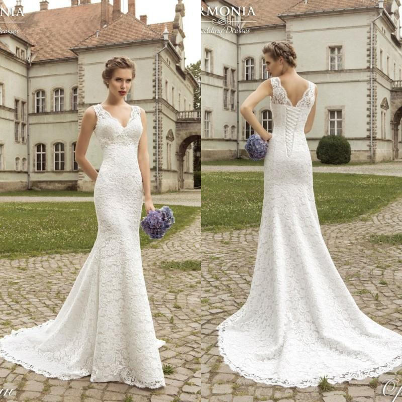 Vestidos de noiva semi sereia mermaid wedding dresses 2017 full lace vestidos de noiva semi sereia mermaid wedding dresses 2017 full lace beach plus size custom made v neck sem mangas vintage sweep train long lace up back junglespirit Choice Image