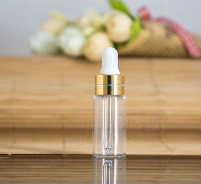 Yeni Varış 50 ADET 5 ML Temizle Cam Damlalık Şişe 5 ML serum Flakon 5 ml Kozmetik Ambalaj, örnek Ekran Konteyner