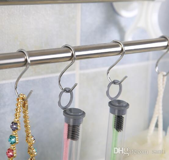 Edelstahl Praktische Haken S-Form-Küche Geländer S-Aufhänger-Haken-Haken-Halter-Haken für hängende Kleidung Handtaschen-Haken