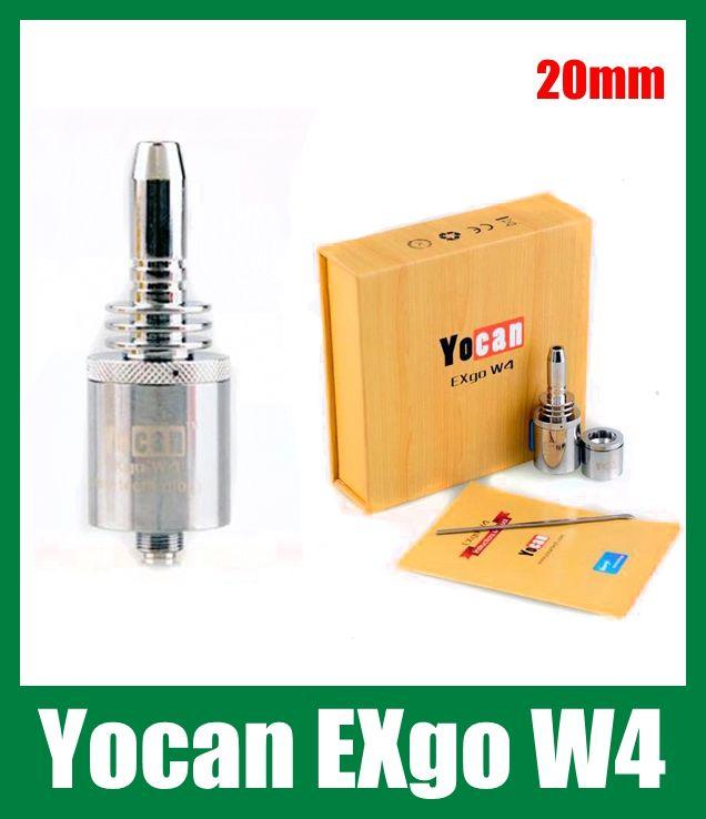 Yocan Exgo W4 Vaporizer Wax Thick Oil Vaporizer Nero Fast