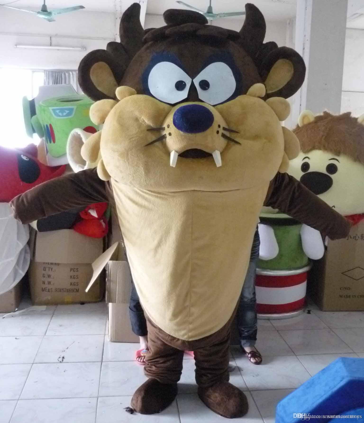 with one mini fan inside the head tasmanian devil mascot costume for