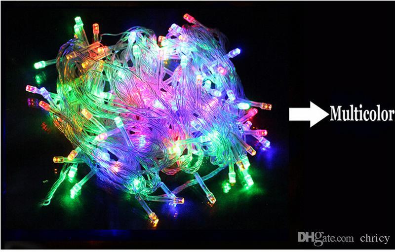 Новые поступления Открытый Украшение String light Led 10M 100 Led AC220V / 110V ЕС 8 Режимов для Праздника Сад Сказочные огни