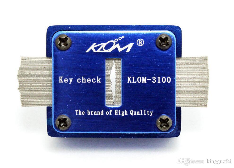 Оригинал KLOM 3100 Key Check Keyway Check Авто Слесарь Инструменты Checker Lock Pick Set Lockpick Key Мера машины