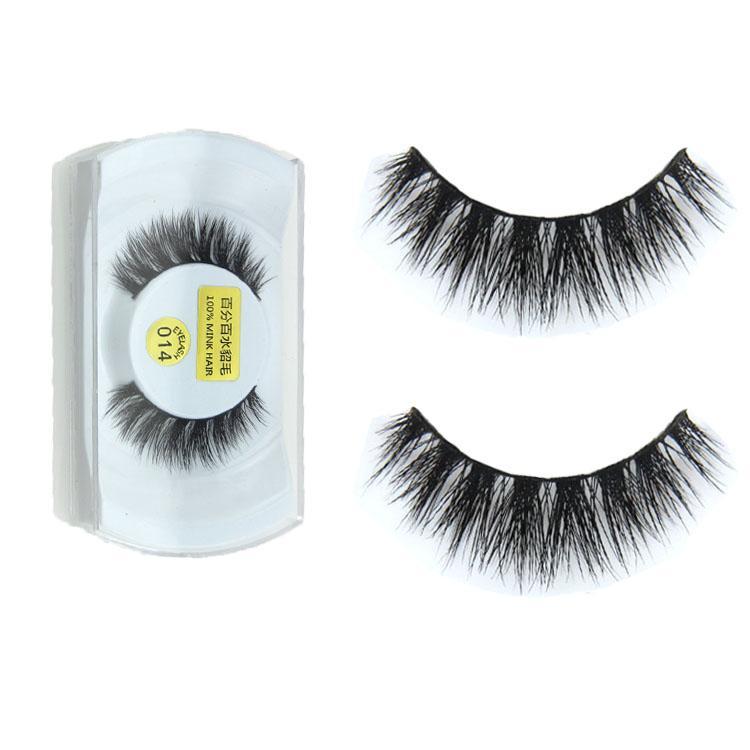 Wholesale New 100 Real Mink Natural Thick False Fake Eyelashes Eye