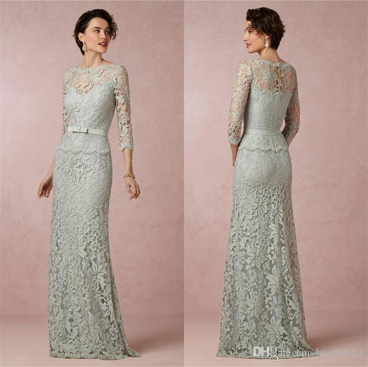 2015 Modest Mother Of The Brides Dresses With Illusion Bateau Neck ...