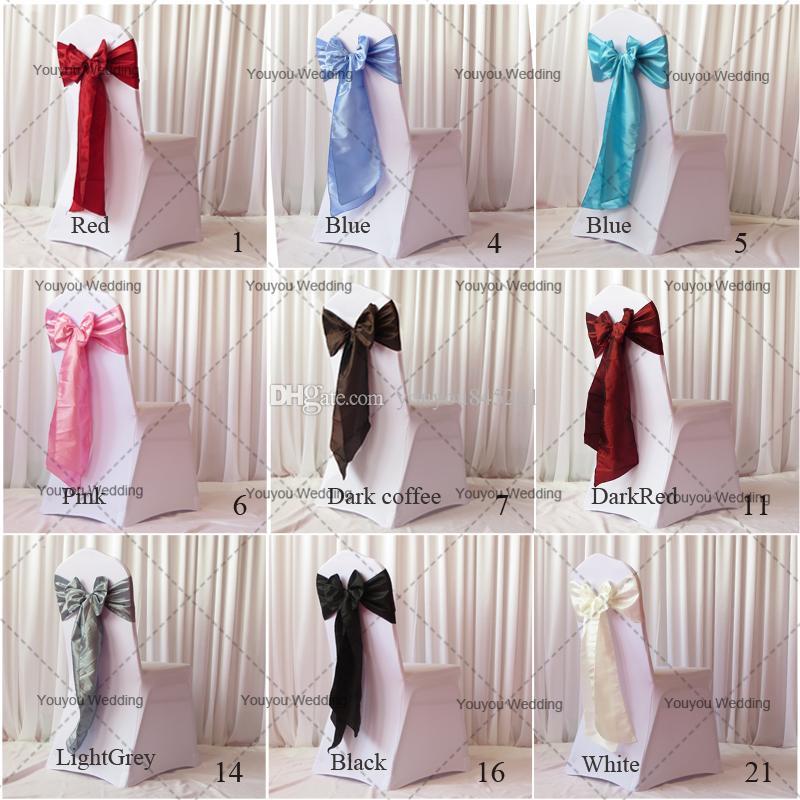 20cm W * 270cm L Lime Color Taffeta Banchetto Sedia Sash / Chair Tie Bow uso matrimoniale