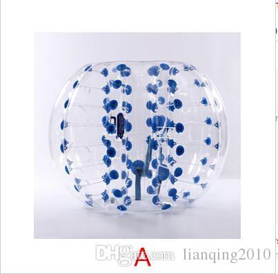 4 pçs / lote 1.5 m PVC zorb bola inflável bumper ball bolha futebol zorbing esportes ao ar livre navio Livre por Fedex