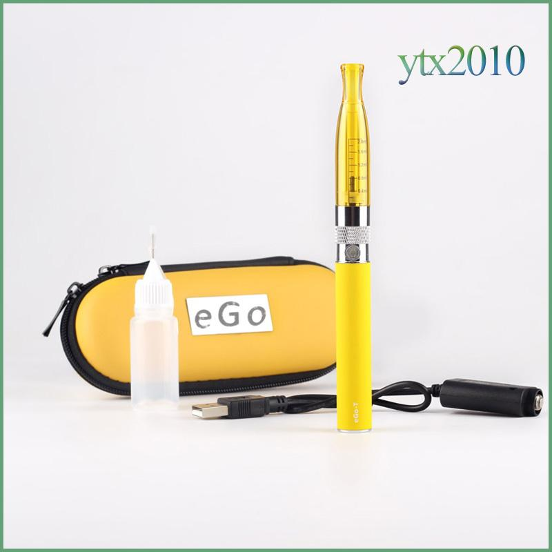 GS H2 EGo T Zipper Case Electronic Cigarette Starter kit 2.0ml H2 atomizer Replaceable Coil 2.4 ohm EGO T ECIG Battery