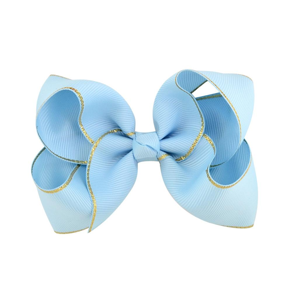 Baby Girl Trendy Hair Clips 4 Inchs Ribbon Hair Bow with Clip Handmade BB Bows Hairpins Kids Boutique Hair Accessories