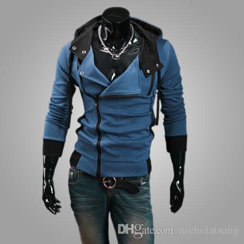 Hot vente 2016 nouveaux styles hommes automne et hiver noir Hoodies cardigan Zip Hoodie Cool Jacket des hommes coréens