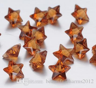 120 ADET, 240 ADET, 480 ADET / 12 Renkler Yıldız Kristal Doğum Günü taşlar Manyetik Yaşam Cam Madalyon Kolye Için Yüzer Charms