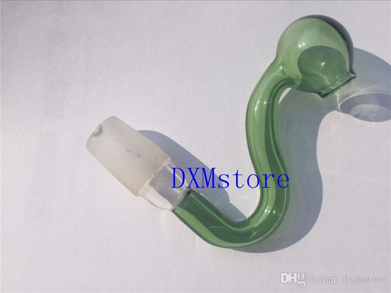 10mm / 14mm / 18mm 남성 다채로운 흡연 유리 그릇 어댑터 약초 물 파이프에 대 한 물 그릇에 대 한 그릇 담배 두꺼운 유리 물 파이프 그릇
