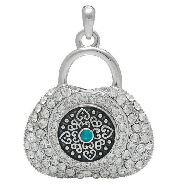 Noosa rhodium strass colocação de pingente pode forma de bloqueio DIY botão personalizado pingentes acessórios de moda jóias fit 18mm