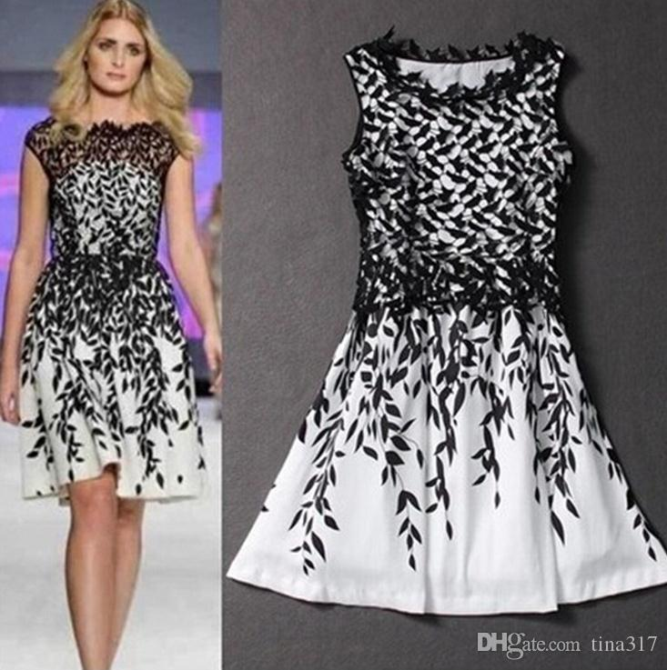 Cheap black and white dress