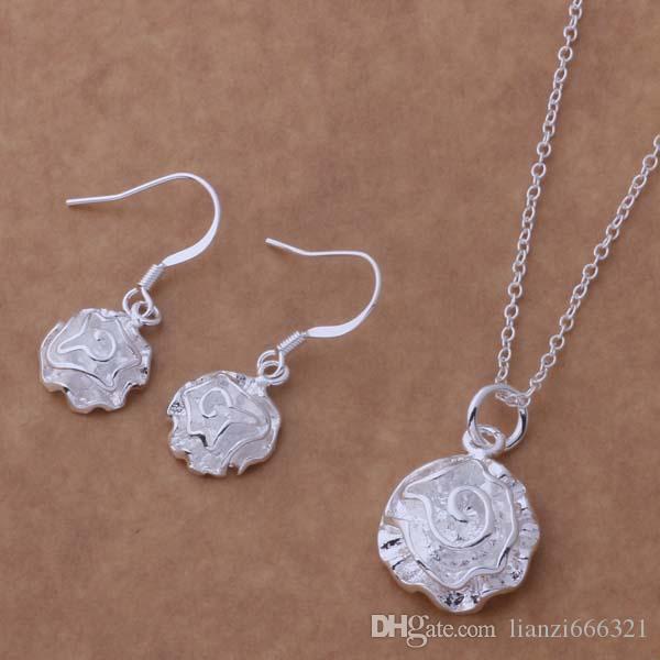 Ensemble de bijoux de mode mélangés 925 boucles d'oreilles en argent pour les femmes à envoyer à sa petite amie / cadeaux de femme livraison gratuite / 1466