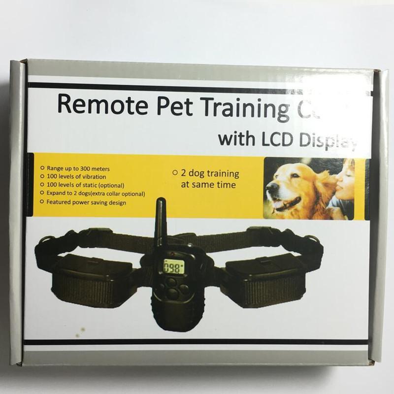 짖는 장치 제조 업체, 도매 애완 동물 용품 원격 제어 껍질 중지 짖는 제어 LCD 훈련 훈련 중지 개 훈련을 중지