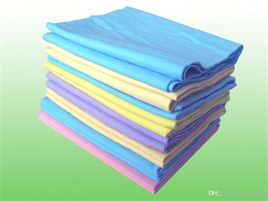 Top Sale High Quality 43*32cm Pva Suede Towel Super Absorber PVA Chamois Towel Car Washing Hair Towel Sport Cloth Synthetic Deerskin Towels
