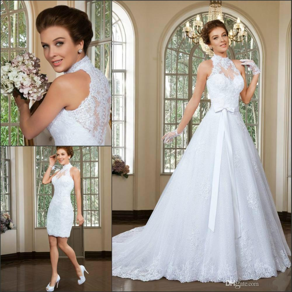 Discount High Neck Wedding Dresses 2015 Wedding Dress With