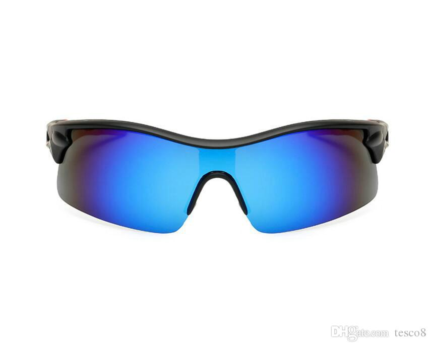 Low Price Polarized Fashion Sunglasses Men Sports Half Frame Siamese Resin Lenses Sun Glasses Dazzle Colour Eyeglasses A+++