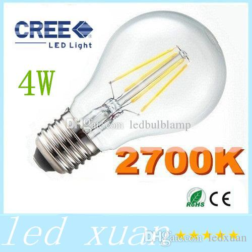 best filament lamp super bright 4w 480lm led filament bulbs light 360 angle warm white 2700k e27 led lights edison lamp 110 240v equivalent gu24 led bulb - Gu24 Led