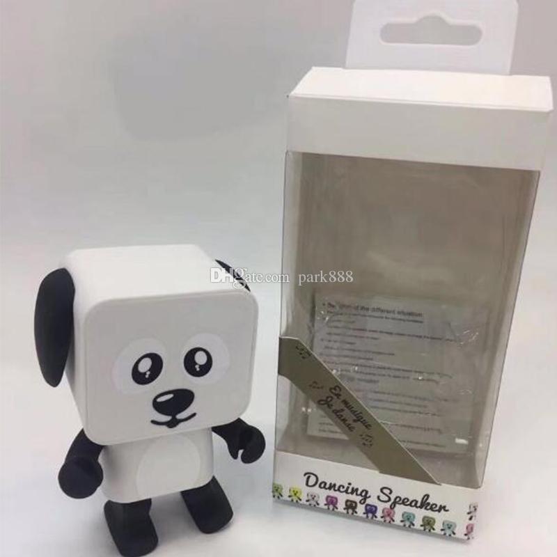 NUEVO Dancing Dog Altavoz Bluetooth Portátil Mini Robot Electrónico Altavoces Estéreo Juguetes Electrónicos Para Caminar Con Música Altavoz Inalámbrico Juguete