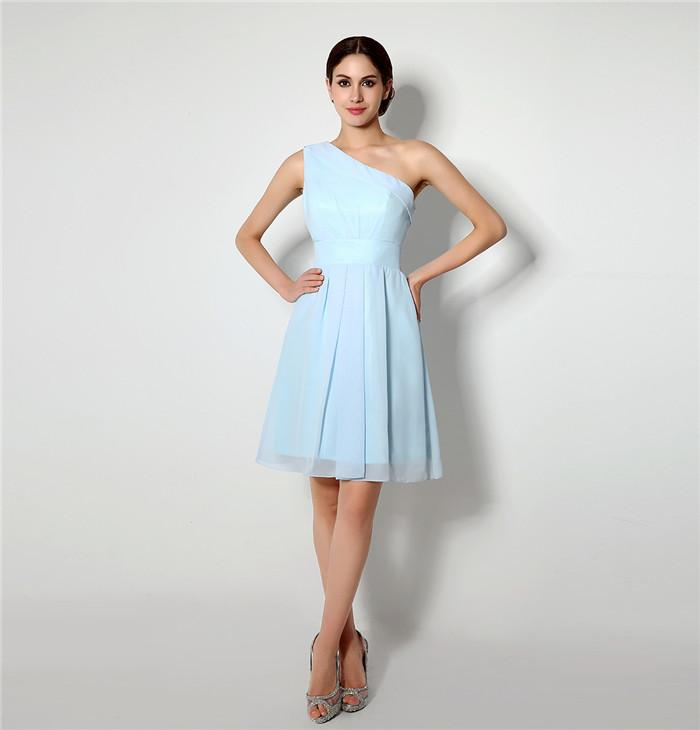 In Stock Size 4 16 Real Pictures Ice Blue Short Bridesmaid Dresses ...