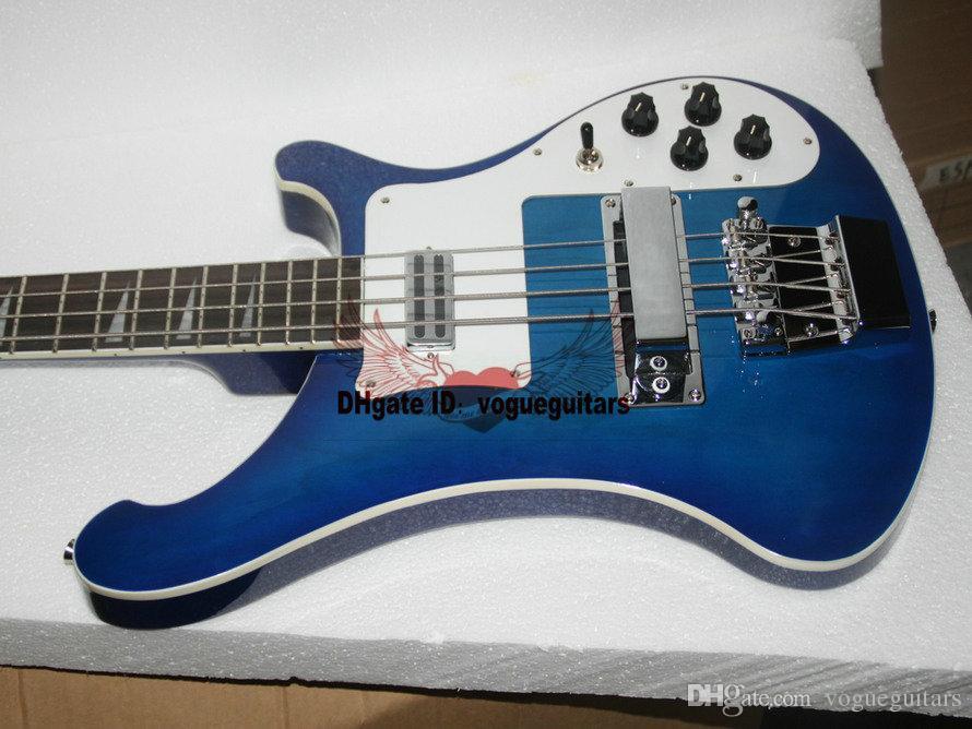 Пользовательские 4003 электрический бас синий 4 строки электрическая бас-гитара новый стиль