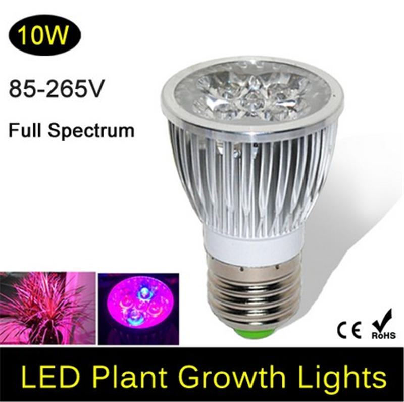 Full Spectrum LED Grow Lights 10W E27 LED Grow Lamp Bulb for Flower ...