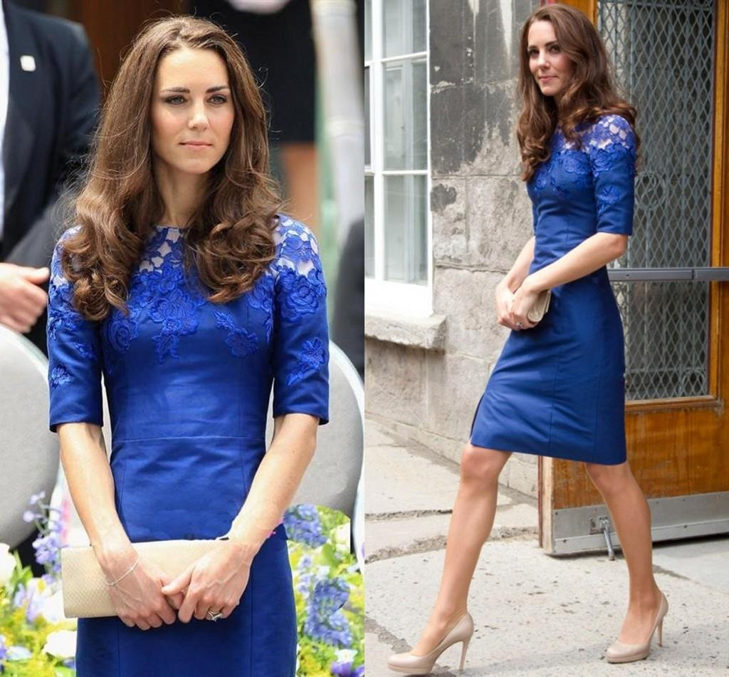 Elegant Kate Middleton Party Dresses Eiffelbride With Beautiful Lace ...