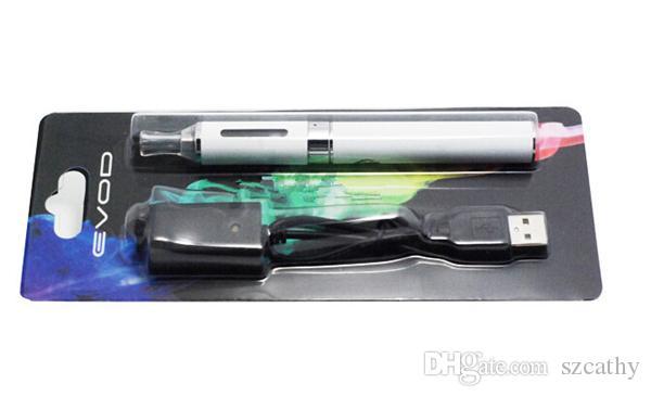 Nuovo EVOD MT3 Blister Kit Evod Starter Kit Con Evod Batteria Mt3 atomizzatori Clearomizer ricaricabile 650mAh 900mAh 1100mAh Mix Colori disponibili