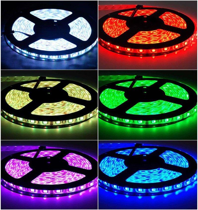 Edison2011 IP20 IP65 5050 SMD RGB LED-band Ljus 30LEDS / M Flexibel LED Strip DC12V 150LED 5M RGB LED-rep