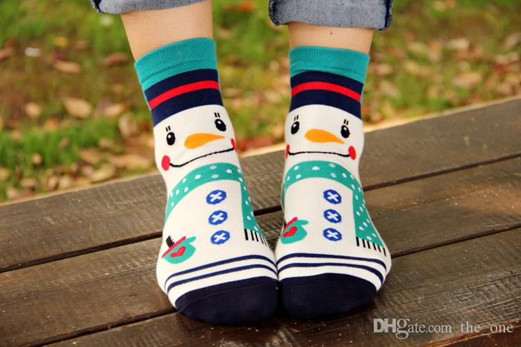 più caldo 2015 Natale Calze carino autunno inverno stile sud coreano Moda cotone Natale neve uomo panda calze
